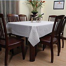HL-PYL Europäische Garten wasserdicht Einweg PVC ölfesten Tuch Schneiden von Kunststoff Tischdecke Tischdecke Tischsets, Typ G, 160*135 cm