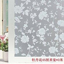 HL-PYL Glass stickers-Badezimmer Fenster, Transparent, Opak, Schattierung, Milchglas, Folie Selbstklebend, Wasserfest, Sonnenschutz, A, 45 Cm Breit X 3 M