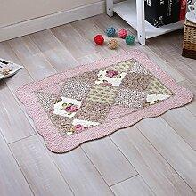 HL-PYL - Handgemachte Baumwolle Steppdecke Matten Anti-Skid Garten Zimmer Tuch Tür Eintrag Badematte, 50 X 50 Cm, SS-A,