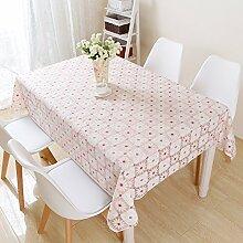 HL-PYL Kleine, frische Blumen Garten Tischdecken rechteckige Kunststoff Tischdecke Spitze Rot karierte Tuch Mode PVC wasserdicht Tabelle, Tartan, 100 * 150 cm.