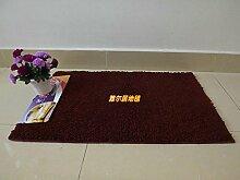 HL-PYL - Super weichen Teppich WC Wasser Badematte Anti-Skid Pad Matte Schlafzimmer Farbe Garten, 58 X 88 Cm, Kaffee