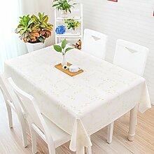 HL-PYL Tischdecke, im japanischen Stil kleiner Garten, frische Cartoon, Schöne karierte PVC, Kunststoff tisch Matte, Tischdecke, wasserfest, Öl, Verbrühen, Willow Zweig, 130 * 210 cm.