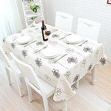 HL-PYL Tischdecke, modern, schwarz und weiß Tisch Matte, Tischdecke, Koreanischer Garten, frische kleine PVC, Kunststoff wasserfest, Öl, eine Chrysantheme, 60 * 137 cm