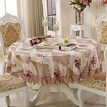 HL-PYL - Tischdecken Tuch Tuch Runde Haushalt Wohnzimmer Couchtisch Tischdecken europäischen Garten eine Runde 200 Cm