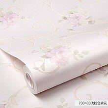 HL-PYL @Wallpaper-Vliestapeten Moderne Vereinfachte Garten Wallpaper Schlafzimmer 10 X 0,53 M, B