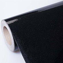 HL-Wasserfeste selbstklebende Sticker kühlschrank Schrank schränke Möbel Farbe Tapete schuhe Kabinett Film 60 cm * 5 m Desktop, Schwarz-E, 60 cm*5 m