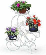 HLC 3 Töpf Metall Blumenständer Blumentreppe