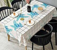 HLEF Abwaschbar Tischdecke Eckig Wachstuch