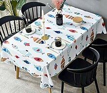 HLEF Abwaschbar Tischdecke Tischdecke Rechteckig