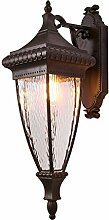 HLJ Europäische Außenbalkon-Wandlampe-Retro-
