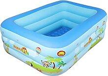 HLJS Aufblasbarer Pool Rechteckig 140x100x50cm