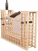 HLL Bar Weinschrank 80 Flaschen Selbstmontage Holz