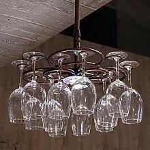 HLL Glas Schmiedeeisen Becherregal hängen