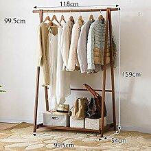 HLL Kleiderbügel, Kleiderständer, Bambus