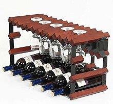 HLL Stapelbarer Weinregal- und Glashalter Dunkles