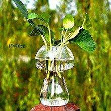 HLL Vase Creative Mushroom Transparentes Glas