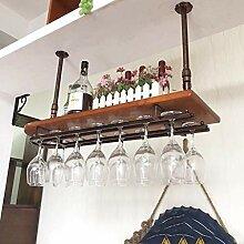 HLL Weinbecherhalter aus schmiedeeisernem Glas auf