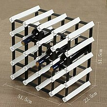 HLL Weinregal Insert Cube Stackable White