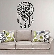 Hlonl Eule Wandtattoo Dream Catcher Vinyl