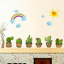 Hlonl Kaktus Topfpflanzen Wandaufkleber Wohnkultur