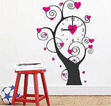 Hlonl Liebe Rosa Wanduhr Baum Diy Wohnzimmer