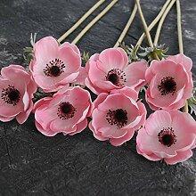 hlpf Real Touch Blumen Pu Blumen Rosen Künstliche