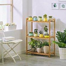 HLQW Bambus-Blumenregal Multi Floor Living Room