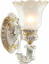 HLQW Europäische Wandleuchte Nachttischlampe