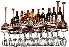 HLWJXS Weinregal Champagner Lagerregal Retro