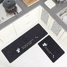 HLXX Bodenmatte rutschfeste Küchenmatte Teppich