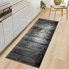 HLXX Holzmaserung Küchenmatte Schlafzimmer