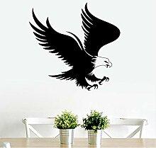 HLZLA Adler Wanddekorkunst Vinyl Aufkleber Tier