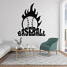 HLZLA Fireball Baseball Wandtattoo Mordern Vinyl