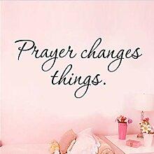HLZLA Gebet ändert Dinge Aufkleber an der Wand