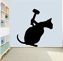HLZLA Katze Wandaufkleber Kinderzimmer Wohnkultur