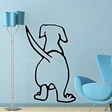 HLZLA Lustiger Tierhund PVC Wandaufkleber