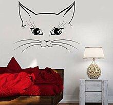 HLZLA Wall Room Decor Art Aufkleber Cat Animals