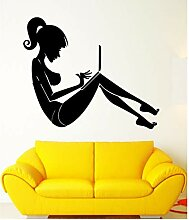 HLZLA Wandaufkleber Mädchen Computer Internet