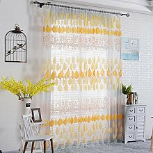 HM&DX 2 Panels Transparent Voile Gardinen