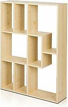 HM&DX Holz Bücherregal Bücherschrank 8-Cube