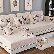 HM&DX Leinen Sofa abdeckung Für sektionaltore