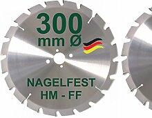 HM Sägeblatt 300 x 30 mm NAGELFEST FF Hartmetall