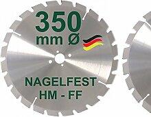 HM Sägeblatt 350 x 30 mm NAGELFEST FF Hartmetall