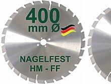 HM Sägeblatt 400 x 30 mm NAGELFEST FF Hartmetall