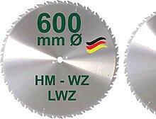HM Sägeblatt 600 x 28 mm LWZ Hartmetall