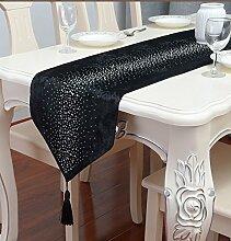 HmDco Europäische Diamant Perlen Table Runner TV-Schrank Dekoration, 6, 33 * 160 cm