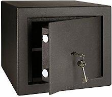 HMF 10021-02 Tresor Safe Sicherheitsstufe S2, B, 27,5 x 32,5 x 32,5 cm