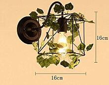 HMGHBMG Wandleuchte Antik rustikal Wandlampe Innen