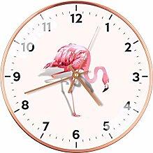 hmmsw Dekorative Uhr des nordischen Flamingo Uhr