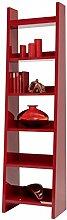 HMW Regal, Holz, rot, 38 x 55 x 205 cm